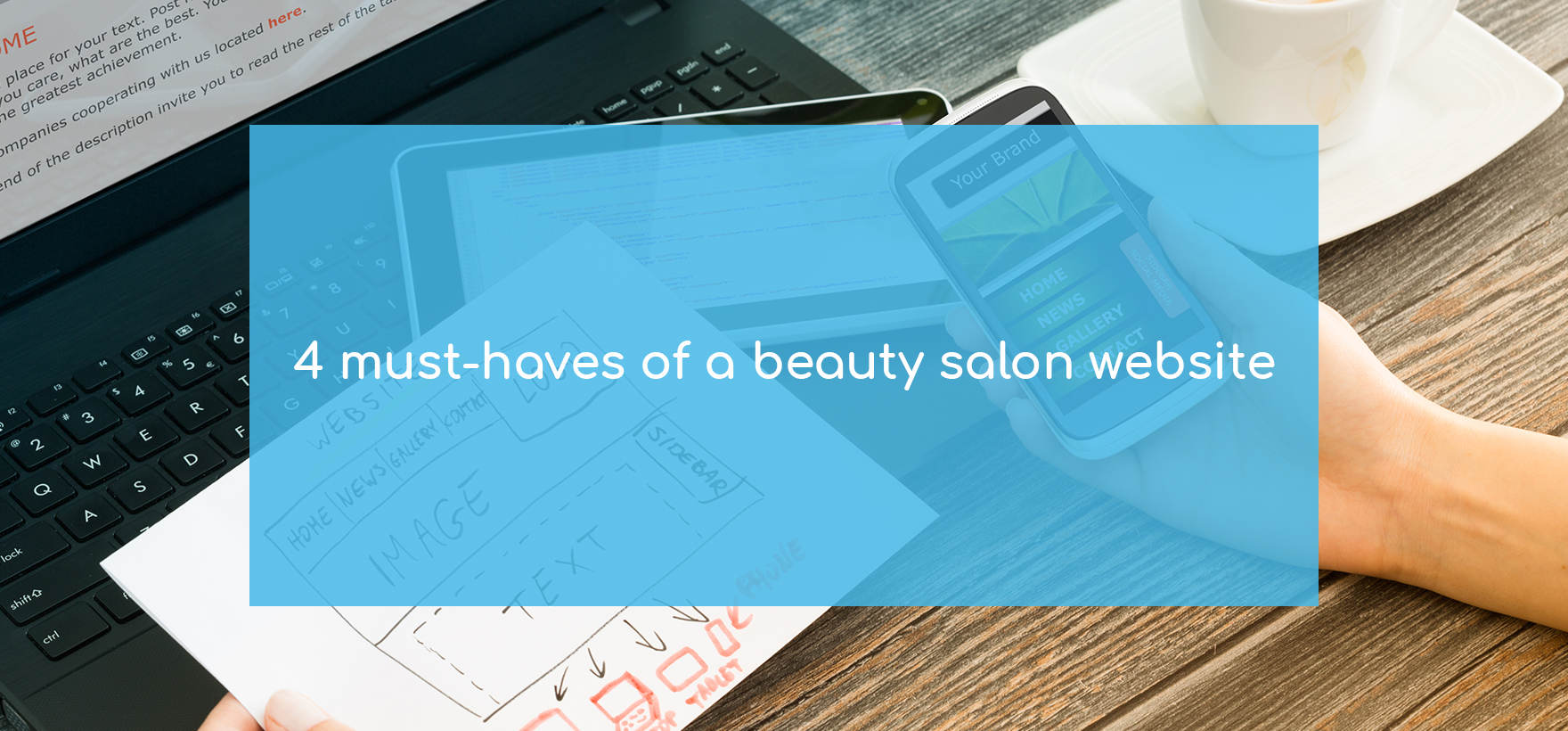 Salon websites ideas. 4 must haves of a beauty salon website