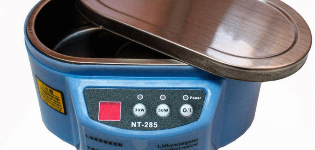 Стерилизация маникюрных инструментов с помощью ультразвуковой мойки